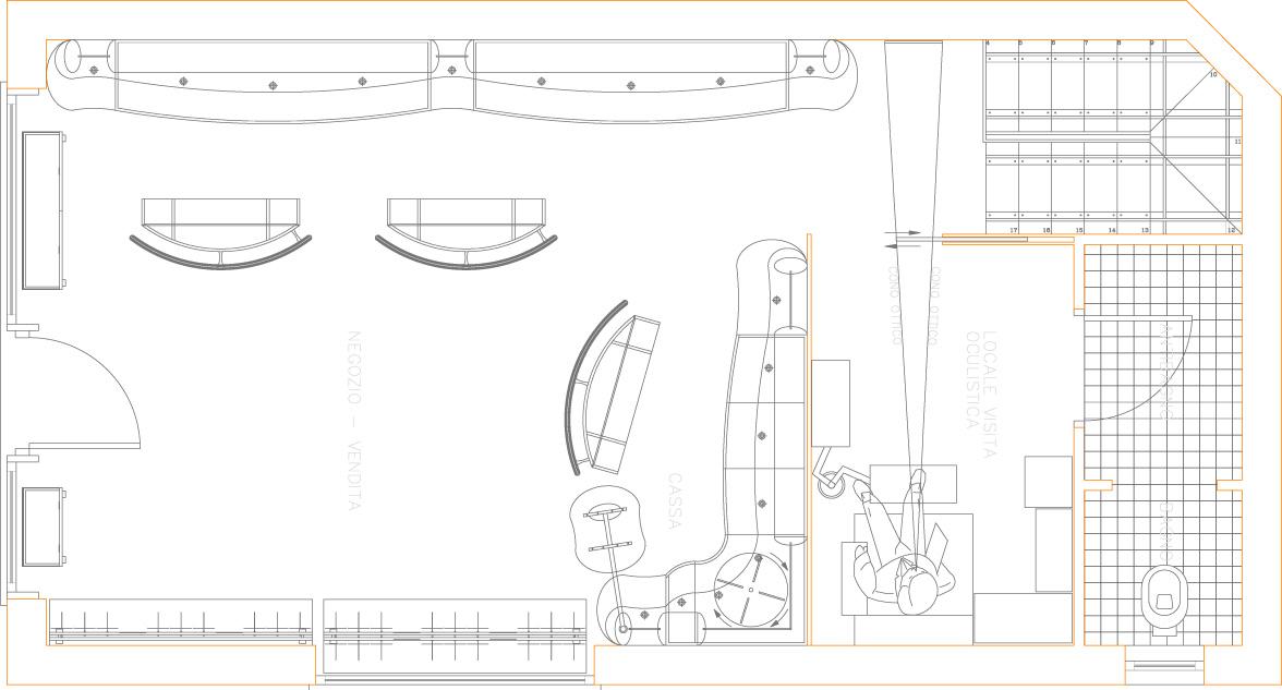 Ottica di virgilio villafranca vr architetto maurizio for Strumento di layout piano terra